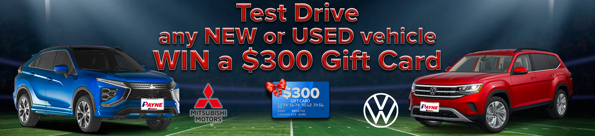 Test Drive to Win $300 Gift Card