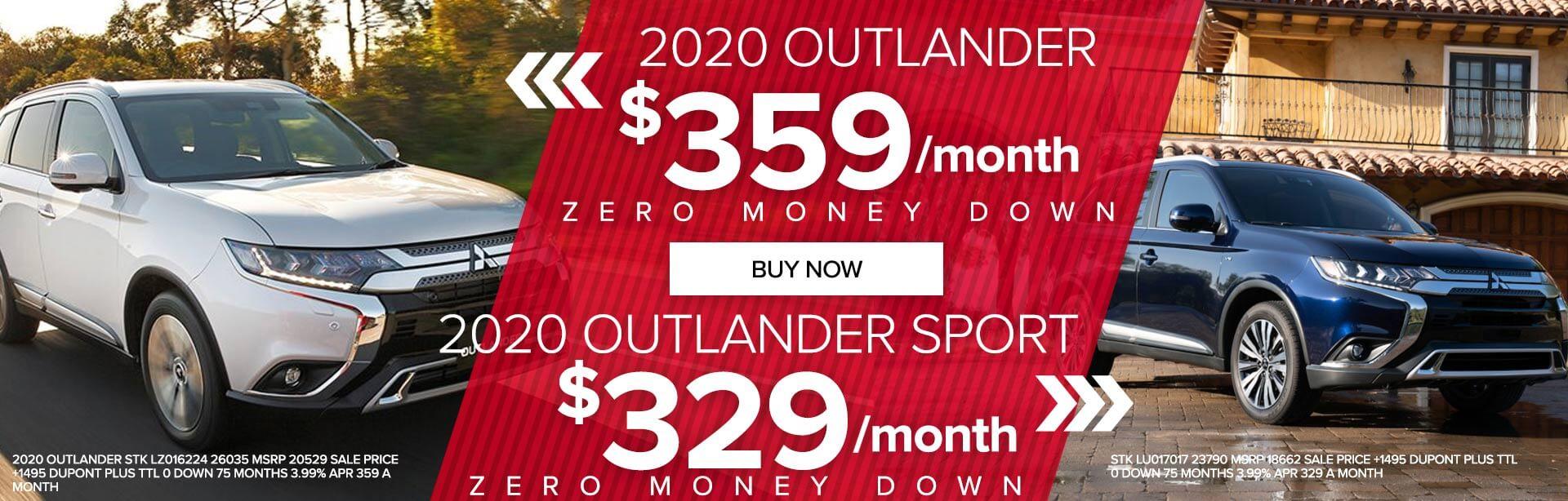 2020 Outlander Sport and Outlander