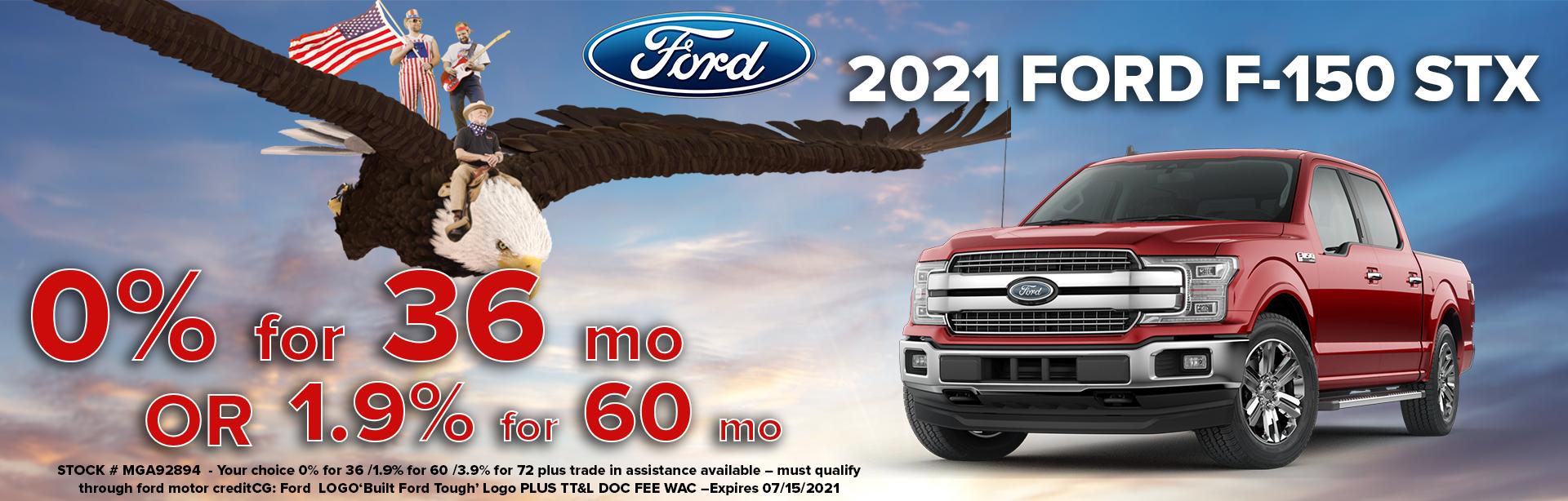 get a 2021 ford f150 stx
