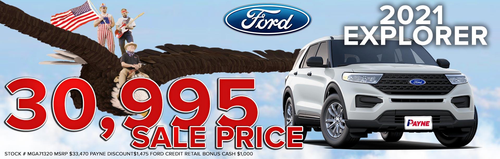 2021 Ford Explorer for $30,995