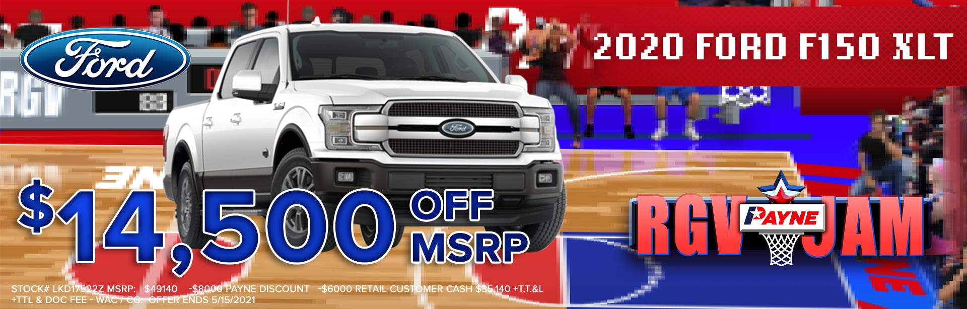 $14000 off MSRP on NEW 2020 Ford F-150