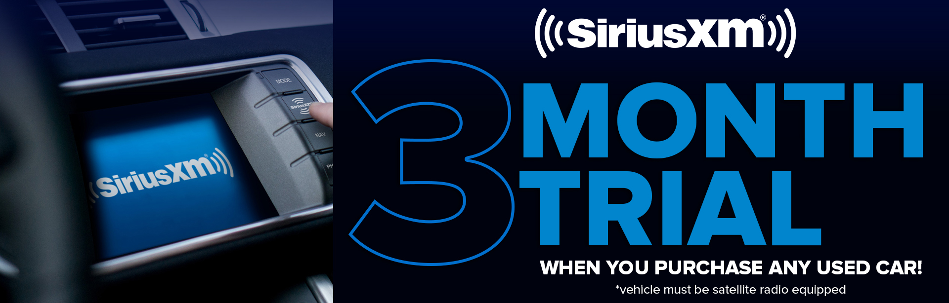 Sirius XM 3Month Trial
