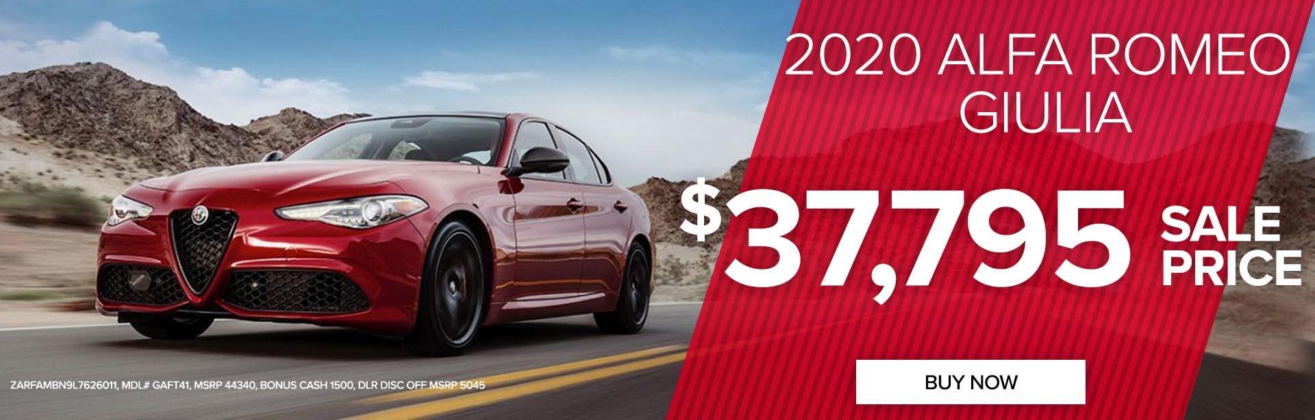 Get a 2020 Alfa Romeo Giulia for $37,695!