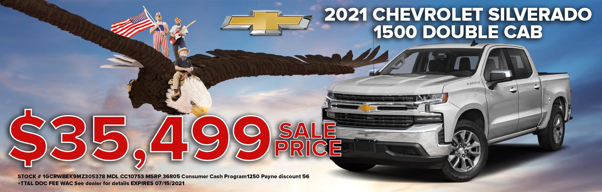2021 chevy silverado for $35,499
