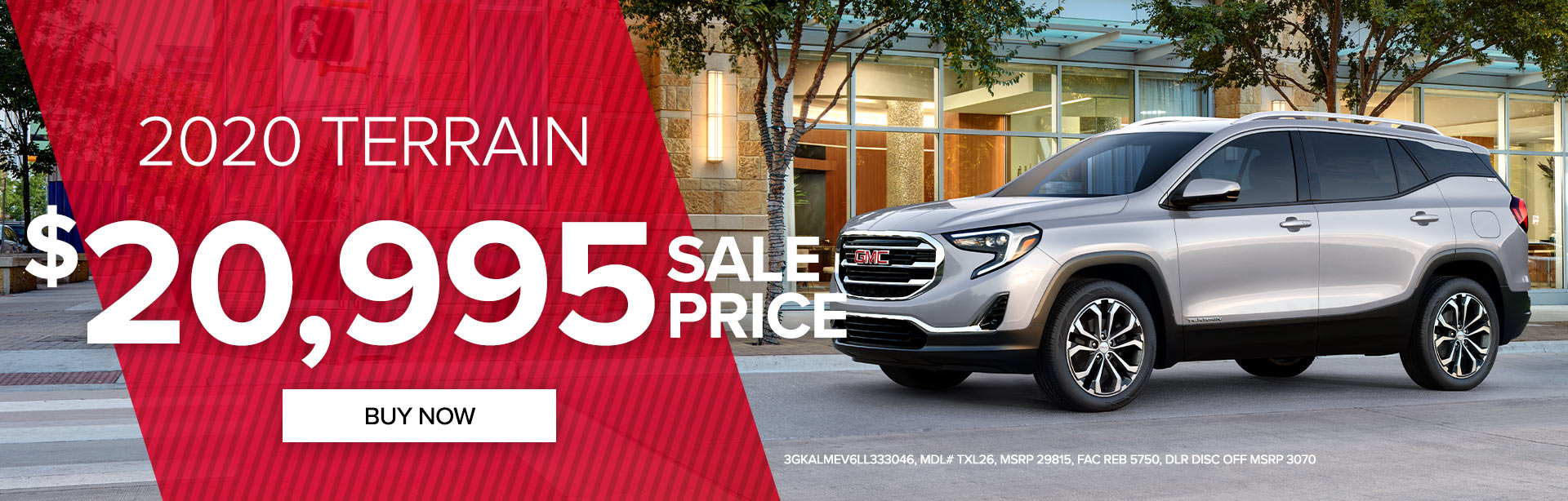 Get a 2020 GMC Terrain for only $20,995