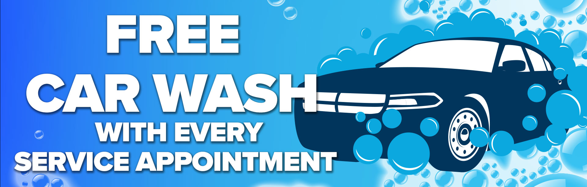 Free car wash with service