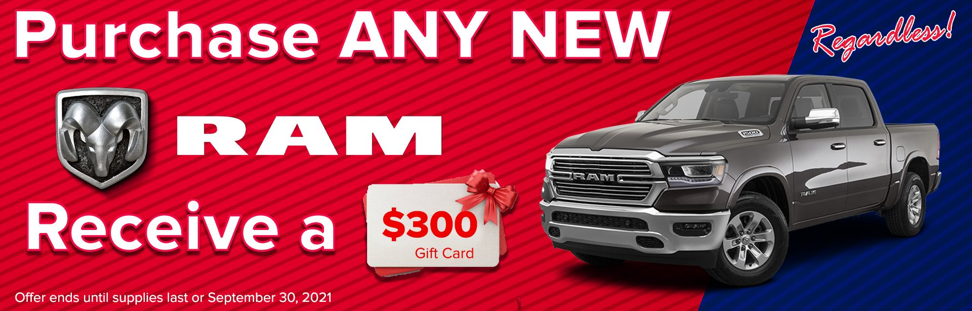 Receive $300 With The Purchase Of Any RAM